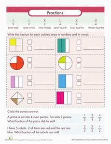 fraction worksheets third grade 4112 writing fractions fraction fundamentals worksheet education