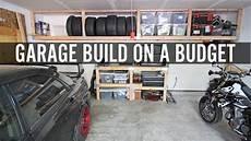Diy Garage Build Part 1 Building Shelves And Tire Rack