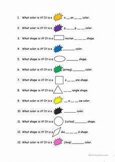 esl worksheets for colors 12987 color and shape worksheet free esl printable worksheets made by teachers