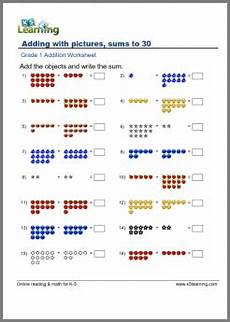 grade 1 math worksheet addition with pictures math 1st grade math worksheets first grade
