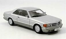 mercedes 500 sec 500 sec w126 coupe gray autoart diecast