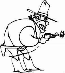 cowboy schiesst mit pistole ausmalbild malvorlage comics