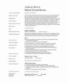 resume skils healthcare free 7 sle medical assistant resume templates in pdf