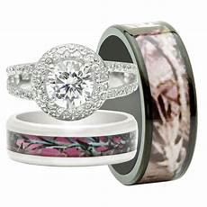 his and hers camo wedding rings his and hers 3pcs titanium camo 925 sterling silver