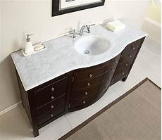 Bathroom Sink Cabinets Marble by 60 Quot Large Single Sink Bathroom Vanity Marble Top Lavatory