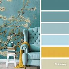 the best living room color schemes blue turquoise mustard