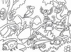 malvorlagen jungle jungle tier malvorlage coloring and malvorlagan