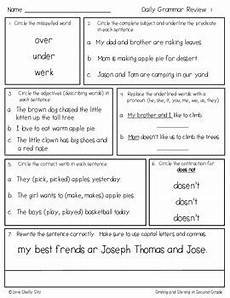 punctuation review worksheets 20883 daily grammar review for second grade by shelly sitz tpt