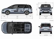 citroën c4 dimensions citro 235 n grand c4 picasso 2 dimensions cars motorcycles