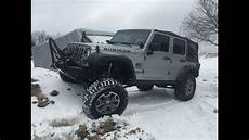 2014 jeep wrangler unlimited rubicon jk road in snow