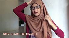Tutorial Pashmina Simple Berkacamata Daily
