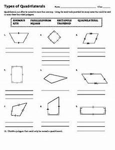 worksheets polygons and quadrilaterals 1025 types of quadrilaterals by mrs ungaro teachers pay teachers