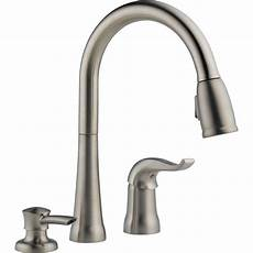 delta kitchen faucets home depot delta kate single handle pull sprayer kitchen faucet with magnatite and soap