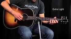 medium guitar strings the ultimate acoustic string comparison light vs custom light vs light vs medium
