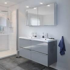 meuble sous vasque 224 suspendre gris 120 x haut 60 cm