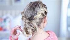 twist back messy bun cute girls hairstyles