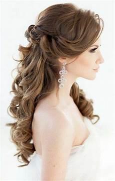 brautfrisuren lange haare romantische wellen