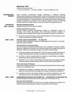 downloadable marketing communications manager resume