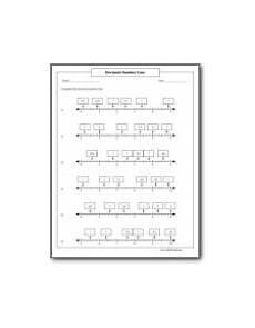 worksheet decimal number line 7222 decimal number line worksheets