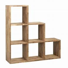 meuble casier en escalier etag 232 re escalier 6 cases en teck trendy les