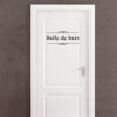Sticker Porte Quot Salle De Bain Quot Et Quot Toilettes Quot Pas Cher