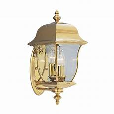 designers oak harbor 3 light polished brass outdoor wall lantern 1542 pvd pb