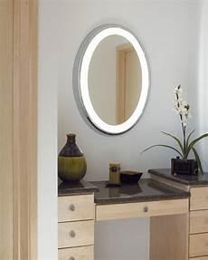tigris oval lighted vanity mirror modern bathroom vanity lighting austin by premium home