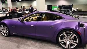 Matte Purple Fisker Karma At The OC Auto Show 2012