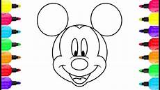 Micky Maus Ausmalbilder Kopf Mickey Mouse Drawing At Getdrawings Free