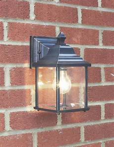 doyle 1 light black gold double insulated outdoor wall