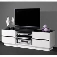 Meuble Tv Laqu 233 Noir Et Blanc Id 233 Es De D 233 Coration