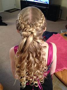 hairstyles for daddy daughter dance father daughter dance hair three dutch braids meeting in the middle of her head ringlets in