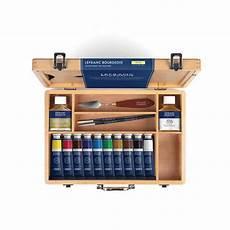 boite peinture huile coffret bois de peinture 224 l huile de lefranc bourgeois