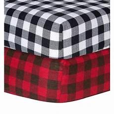 shop trend lab checkered flannel crib sheet free