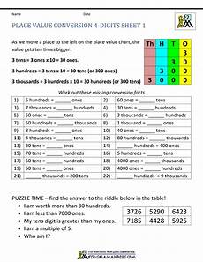 place value worksheets salamander 5272 math worksheets place value 3rd grade