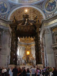 baldacchino bernini st s basilica 171 5 wheels to 5