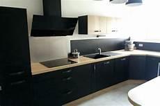 cuisine noir mat cuisine et bois socooc aubagne mat ou brillant une