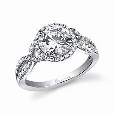 jocelina spiral engagement ring with halo sylvie