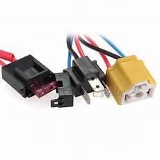 9003 h4 bulb wiring h4 9003 ceramic fused socket relay wiring harness headlight bulb booster 692612890416 ebay