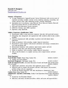 2015 resume with summary