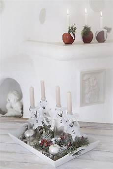 adventskranz einmal anders white and vintage