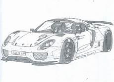 Malvorlagen Auto Porsche Porsche 918 Spyder Drawing Desenhos Perfeitos Desenhos