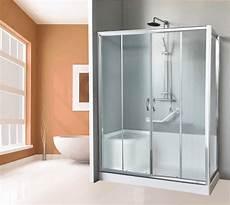 cabina per vasca box doccia completo di piatto e seduta per sostituzione