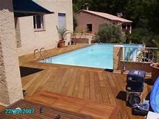 terrasse bois de piscine plage piscine