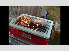 Coleman TABLETOP Charcoal Grill in Action   YouTube