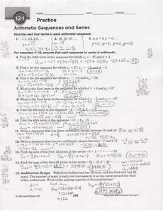 arithmetic sequences worksheet 1 answer key briefencounters