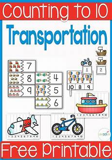 transportation math worksheets preschool 15212 free transportation themed printable for counting to 10 transportation preschool activities
