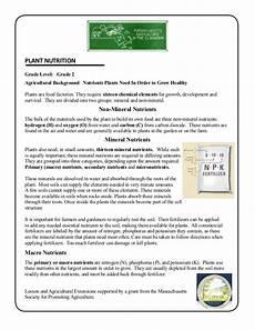 plants and soil worksheets 13633 grade 2 school garden lesson plan soil lesson plant nutrition ma
