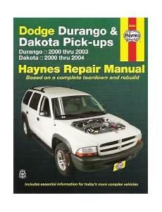 online car repair manuals free 2000 dodge durango on board diagnostic system 2000 2003 dodge durango 00 04 dakota haynes repair manual