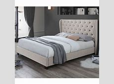 VIC Furniture Oat White Diamond Queen Bed Frame & Reviews